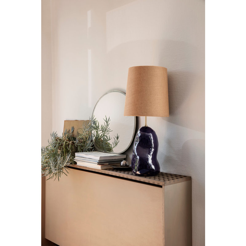 ferm LIVING-collectie Hebe Lamp Base Medium Deep Blue