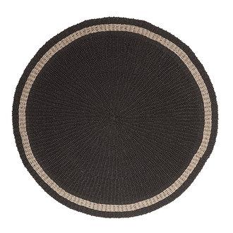 MUST Living Vloerkleed zeegras Prado zwart