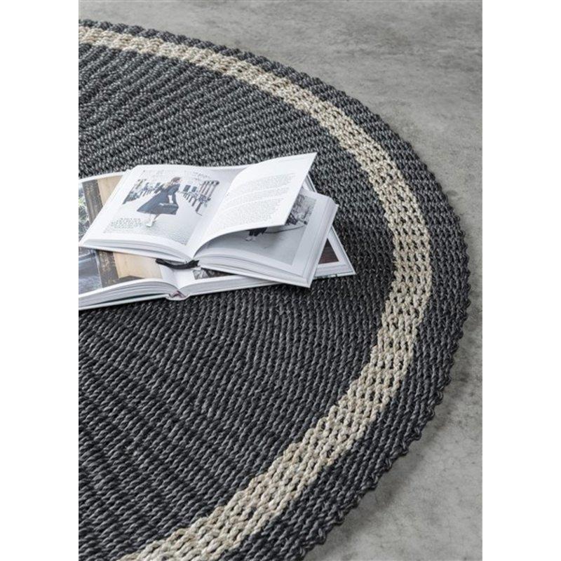 MUST Living-collectie Vloerkleed zeegras Prado zwart