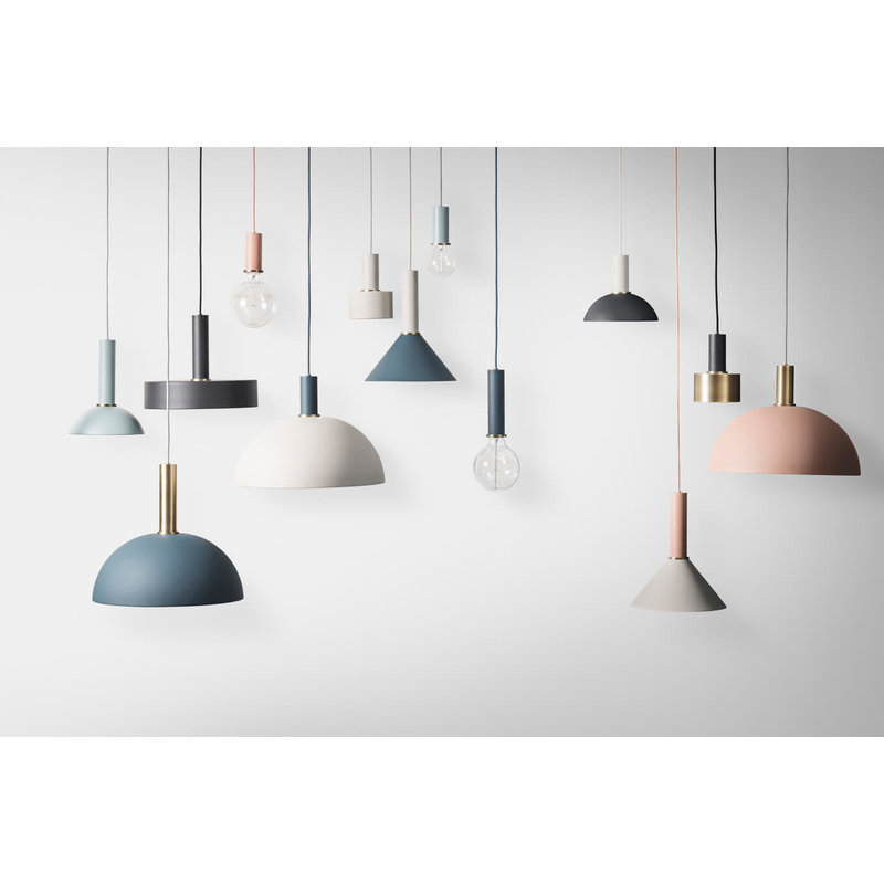 ferm LIVING-collectie Collect Record lampenkap lichtgrijs
