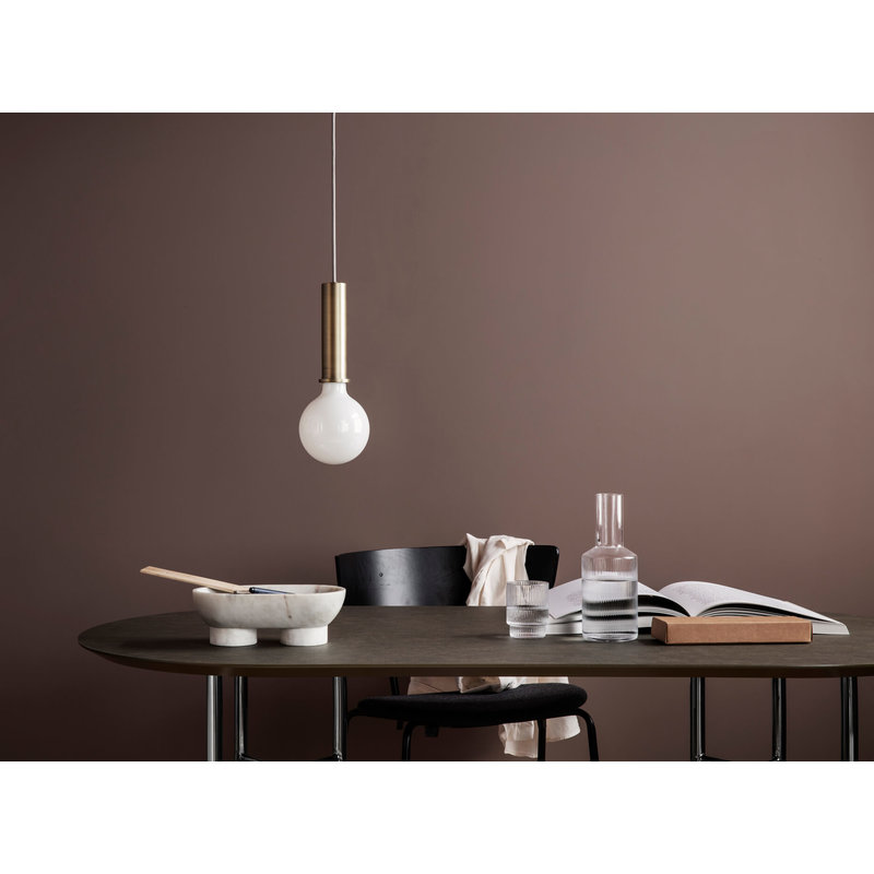 ferm LIVING-collectie Collect hanglamp Low roze