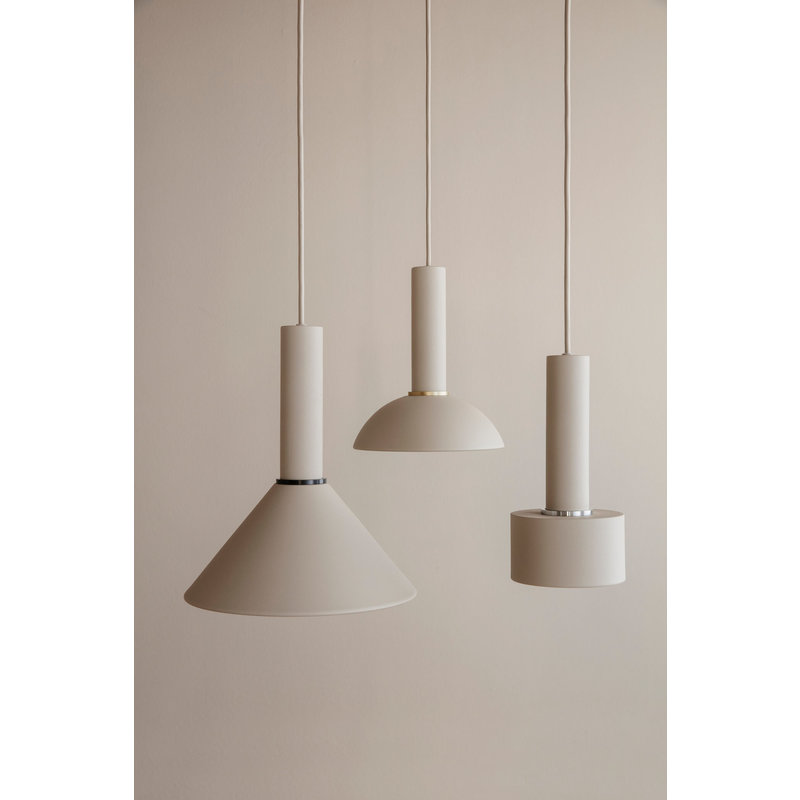 ferm LIVING-collectie Collect hanglamp Low lichtgrijs