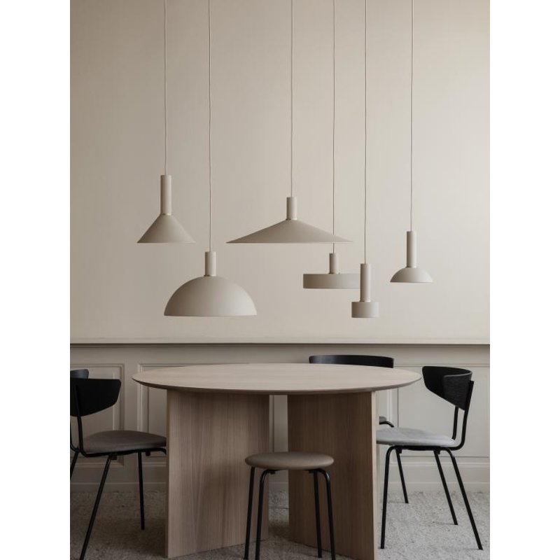ferm LIVING-collectie Collect hanglamp Low Brass