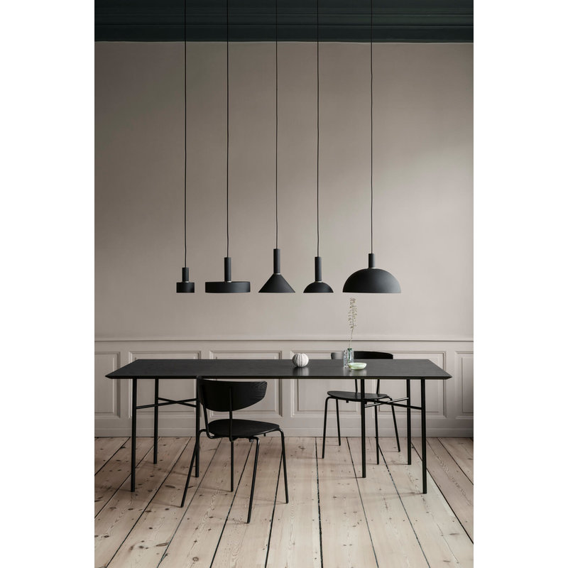 ferm LIVING-collectie Collect hanglamp Low zwart