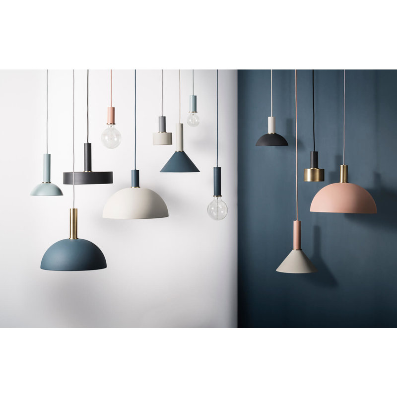 ferm LIVING-collectie Collect Dome Shade Dark Blue