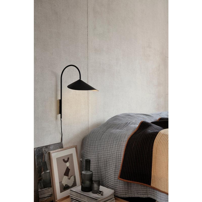 ferm LIVING-collectie Arum Wall Lamp Black