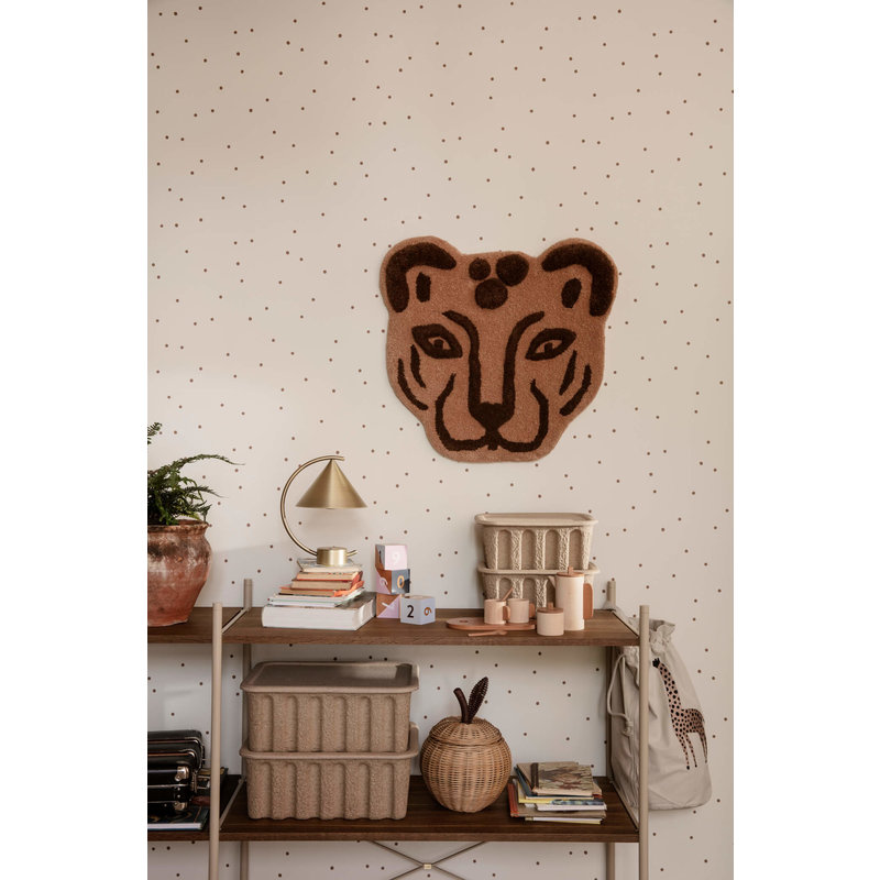 ferm LIVING-collectie Wand- en vloerkleed tufted Leopard Head
