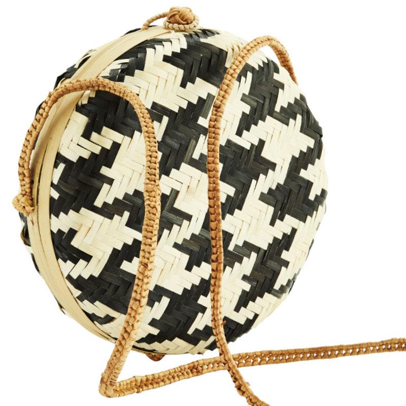 Madam Stoltz-collectie Round bamboo bag