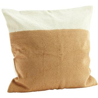 Madam Stoltz Two tone cushion cover