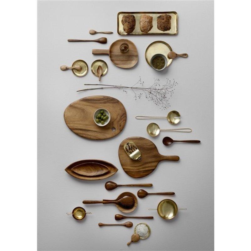 Bungalow-collectie Saladebestek Anika goud