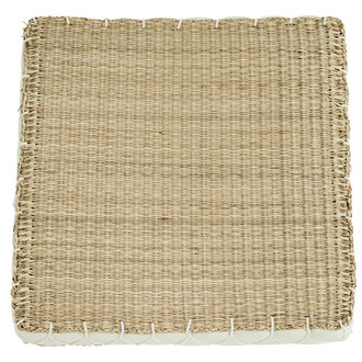 Madam Stoltz Squared seagrass chair pad