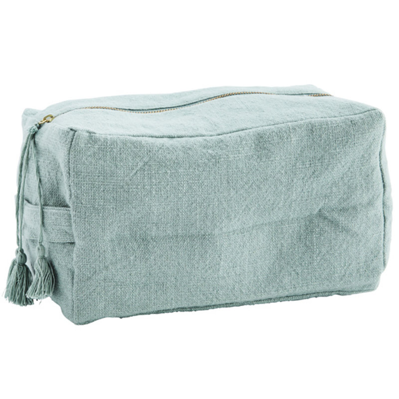 Madam Stoltz-collectie Cotton toilet bag w/ tassels