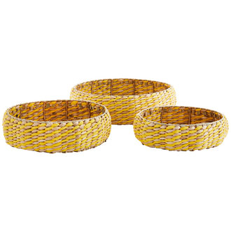 Madam Stoltz Round wicker trays