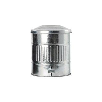 House Doctor Garbage bin, Zinc, 15 Liters