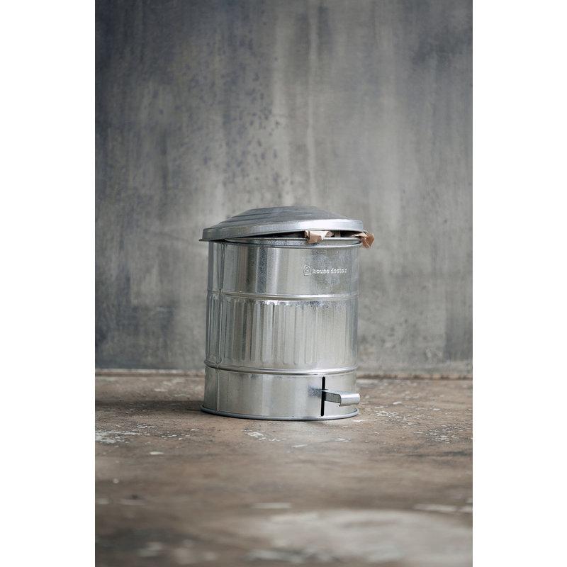 House Doctor-collectie Garbage bin, Zinc, 15 Liters