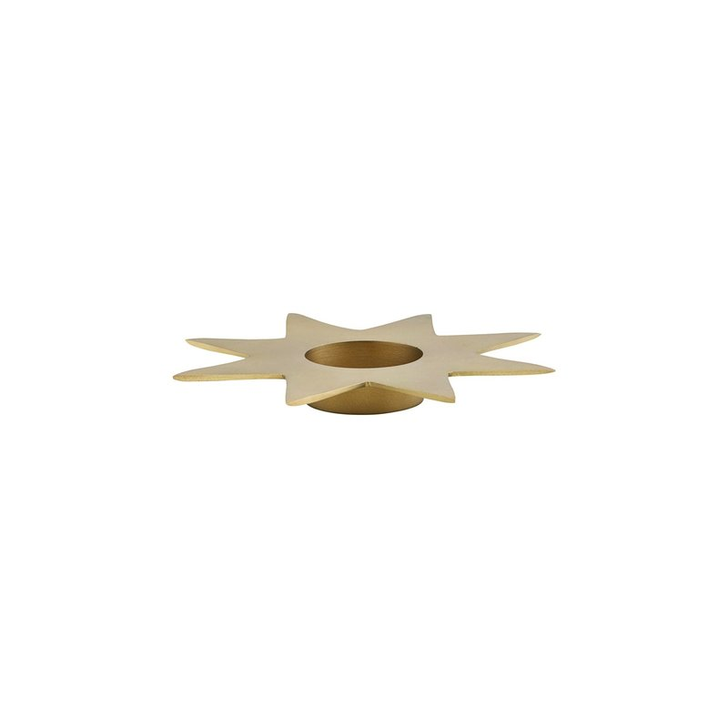 House Doctor-collectie Candle stand, Star, Gold, (candle/dia: 6 cm)