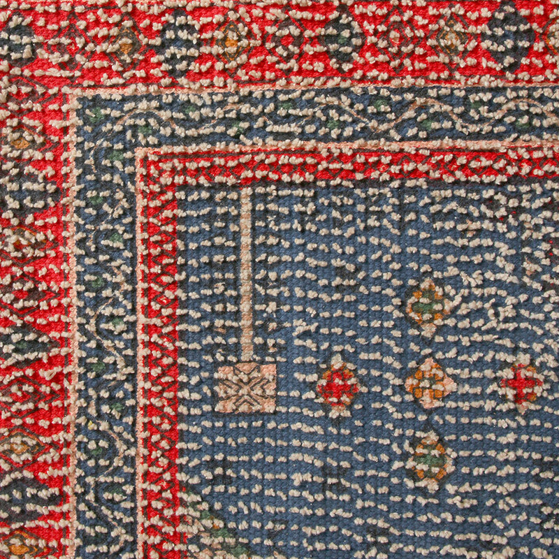HKliving-collectie Printed bath mat red/blue overtufted (60x90)
