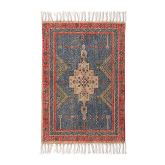 HKliving Printed bath mat red/blue overtufted (60x90)