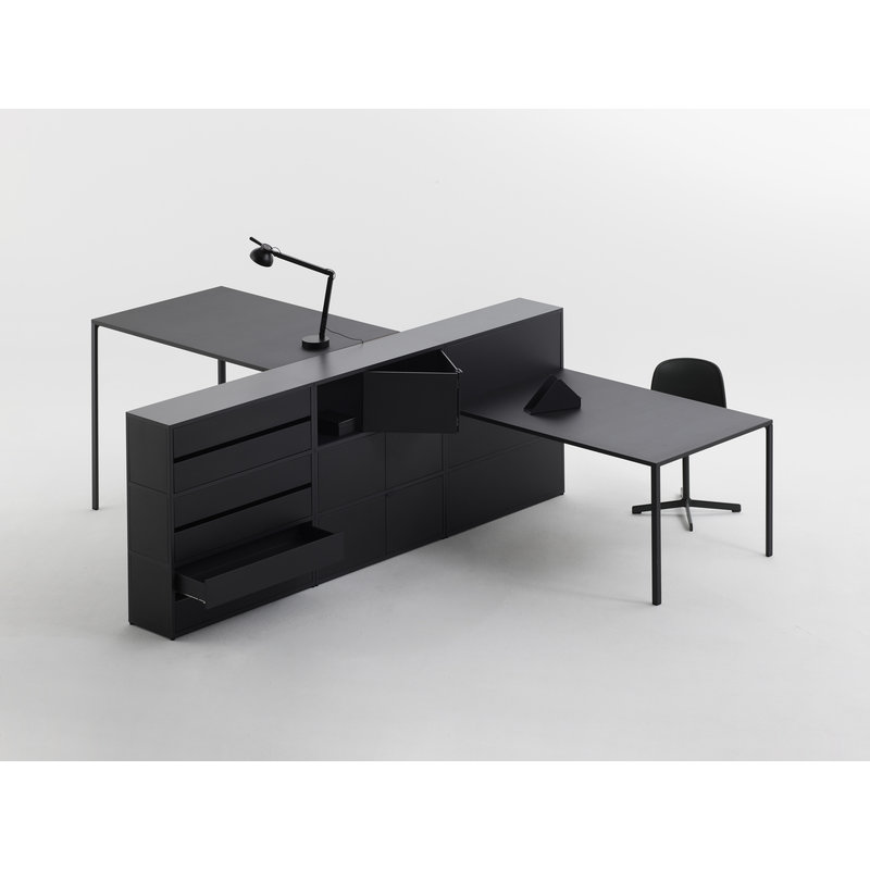 HAY-collectie PC Task Double arm w. table base