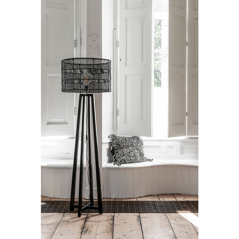 MUST Living-collectie Vloerlamp Es Canar zwart