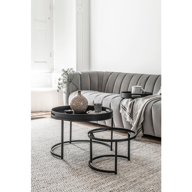 MUST Living-collectie Coffee table Golden Fiber large