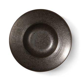 HKliving home chef ceramics: pasta plate rustic black