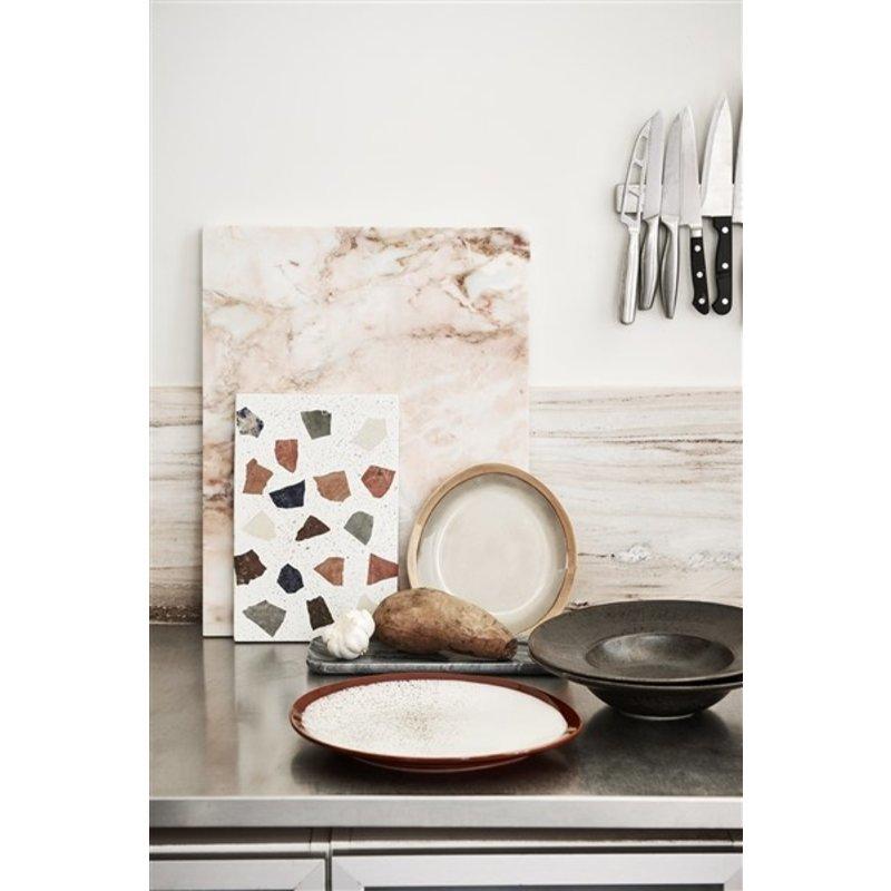 HKliving-collectie home chef ceramics: pasta plate rustic black
