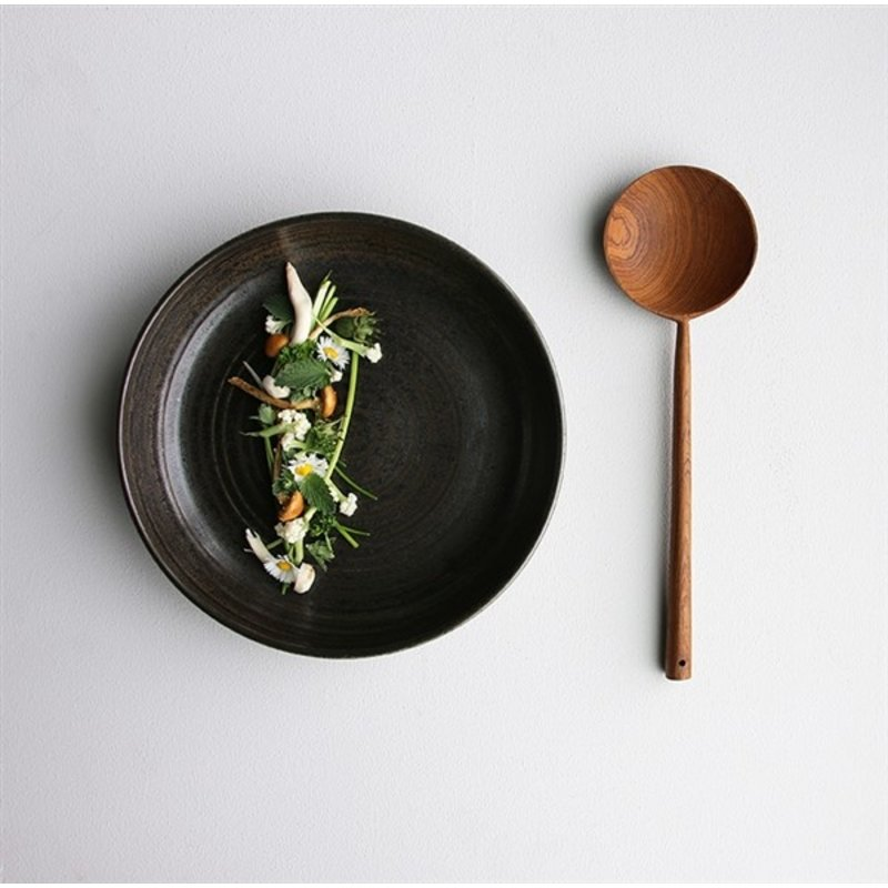HKliving-collectie home chef ceramics: deep plate rustic black