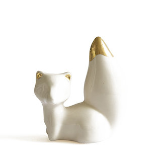 Atelier W. Beeldje What does the fox say creme