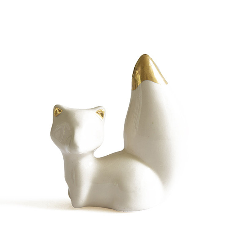 Atelier W.-collectie Beeldje What does the fox say creme