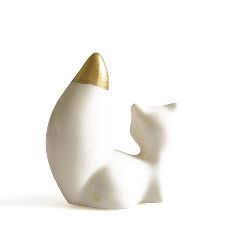Atelier W.-collectie Figurine What does the fox say creme