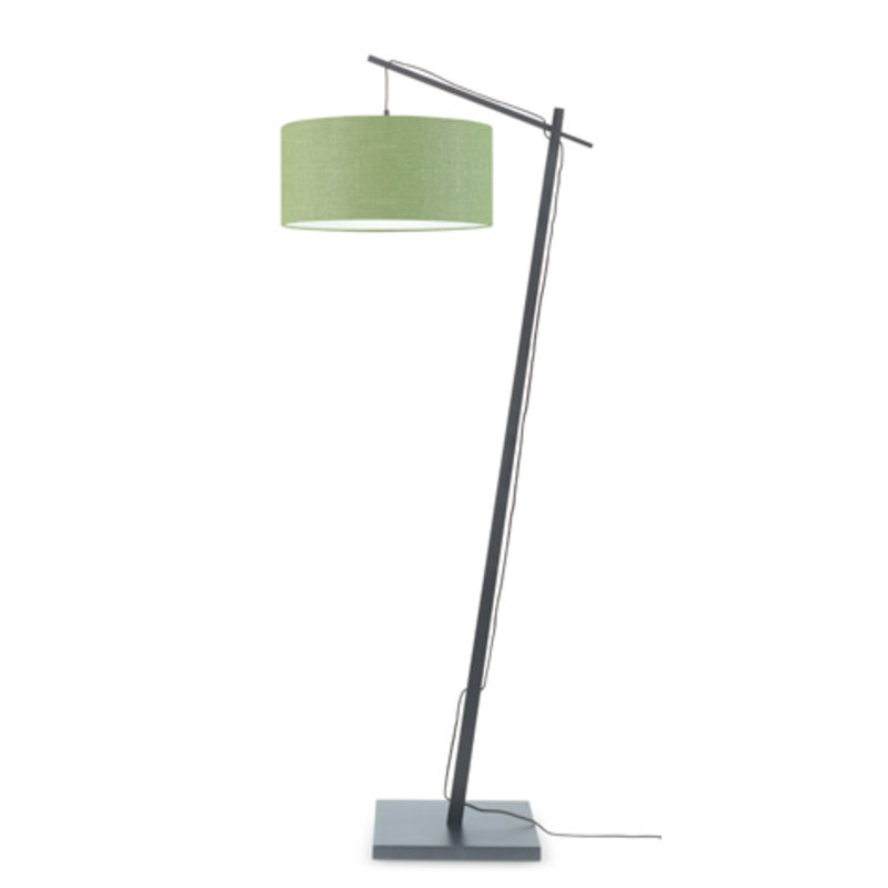 Good&Mojo-collectie Floor lamp Andes bl./shade 4723 ecolin. gr.forest