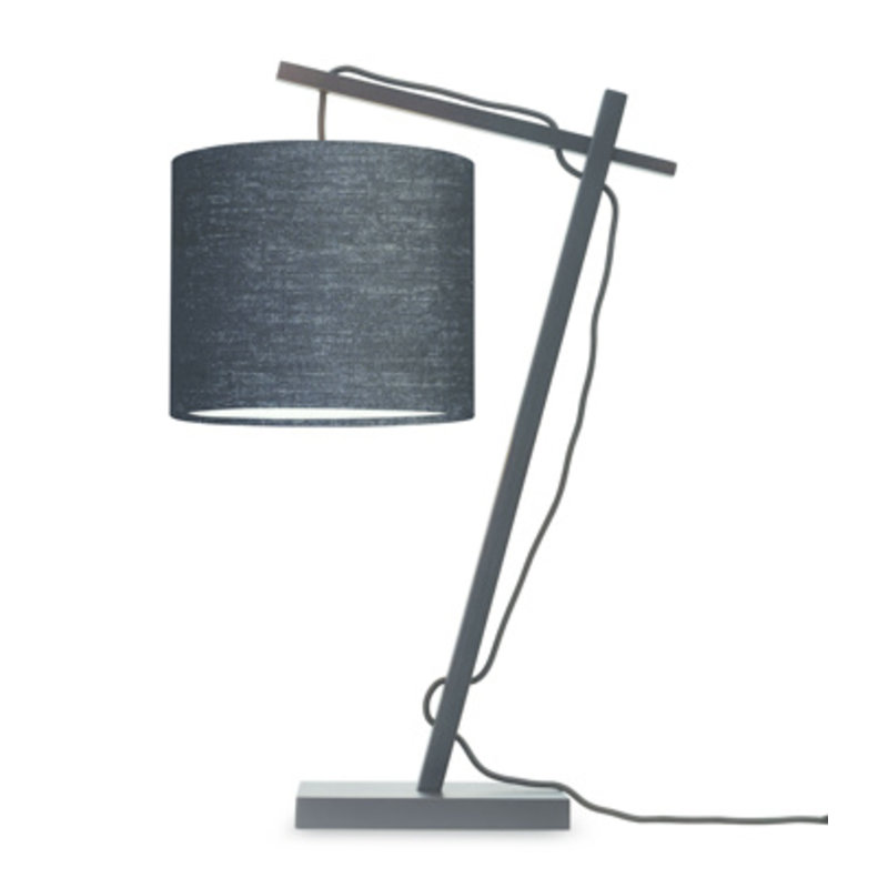 Good&Mojo-collectie Table lamp Andes bl./shade 1815 ecolin. bl.