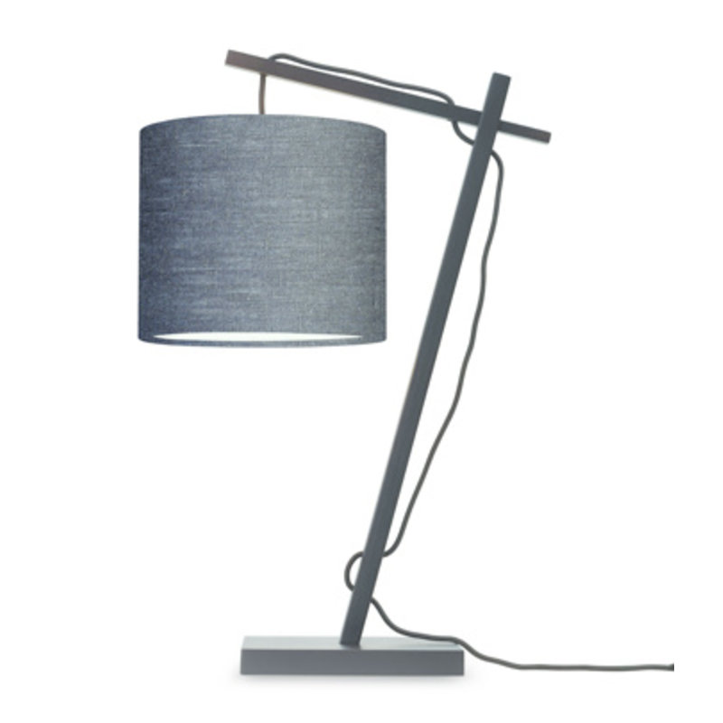 Good&Mojo-collectie Table lamp Andes bl./shade 1815 ecolin. d.grey