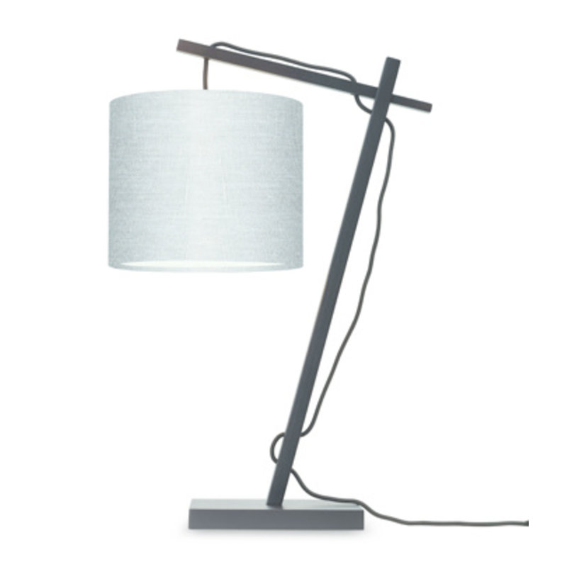 Good&Mojo-collectie Table lamp Andes bl./shade 1815 ecolin. l.grey