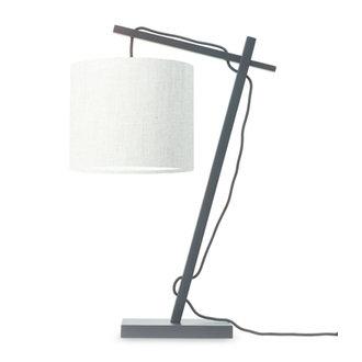 Good&Mojo Tafellamp Andes zwart/licht linnen