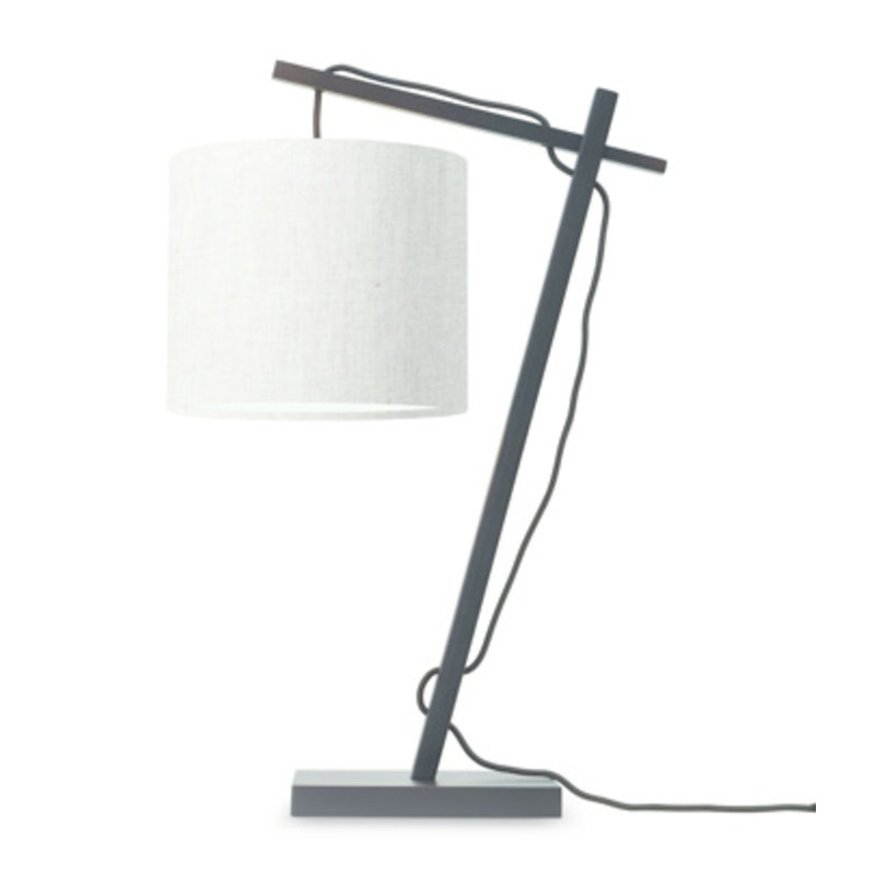 Good&Mojo-collectie Tafellamp Andes zwart/licht linnen