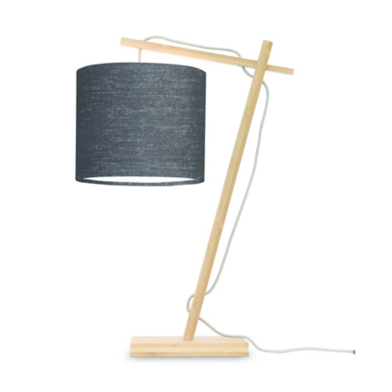 Good&Mojo-collectie Table lamp Andes nat./shade 1815 ecolin. bl.