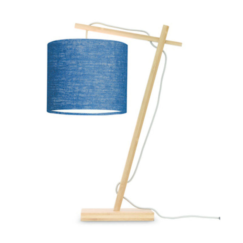 Good&Mojo-collectie Table lamp Andes nat./shade 1815 ecolin. bl.denim