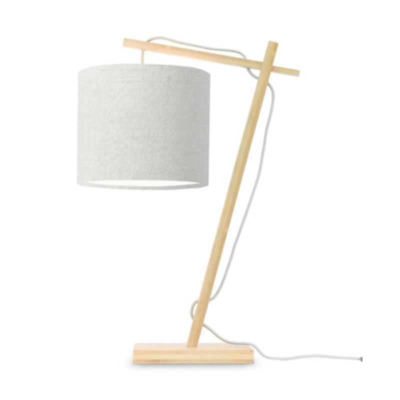 Good&Mojo-collectie Table lamp Andes nat./shade 1815 ecolin. dark