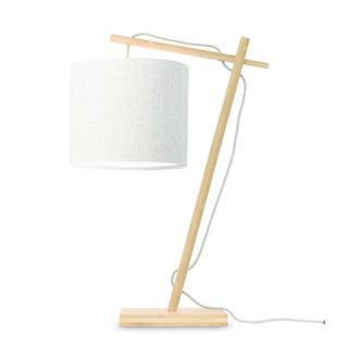 Good&Mojo Tafellamp Andes naturel/licht linnen