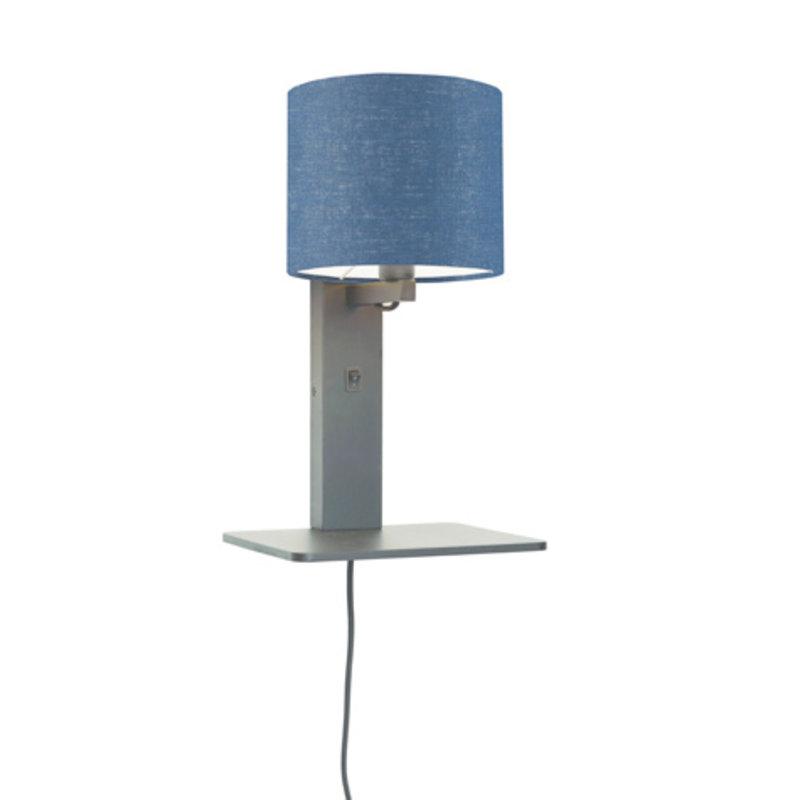 Good&Mojo-collectie Wandlamp Andes zwart/ blue denim