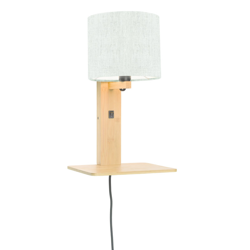 Good&Mojo-collectie Wandlamp Andes naturel/licht linnen
