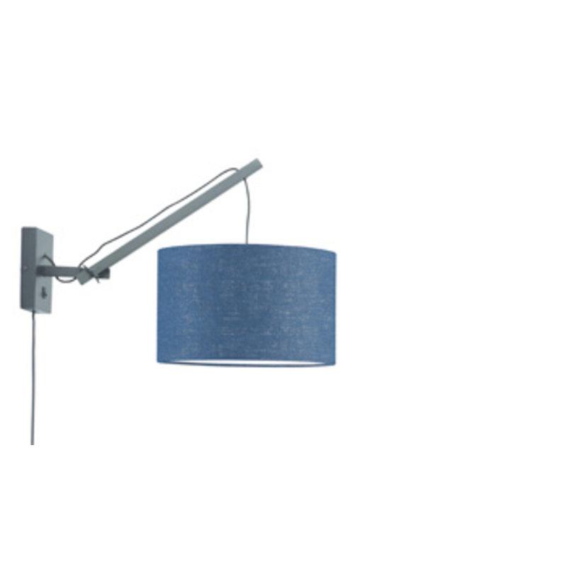 Good&Mojo-collectie Wandlamp Andes zwart/blue denim S