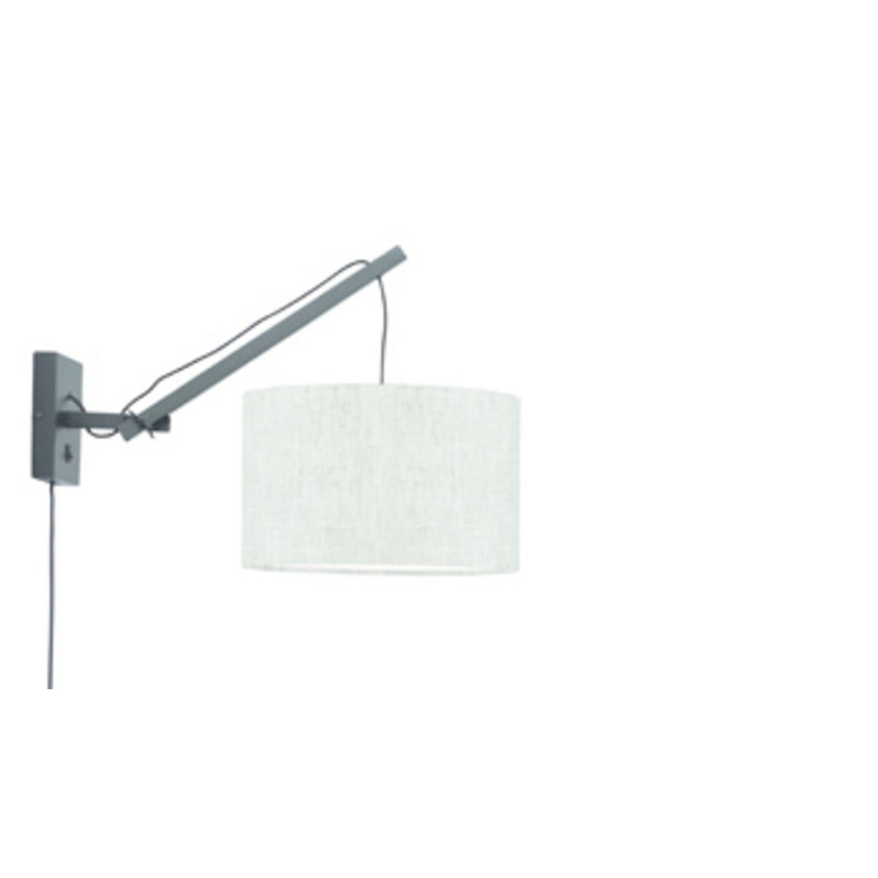 Good&Mojo-collectie Wall lamp Andes black/shade 3220 ecolin. light, S