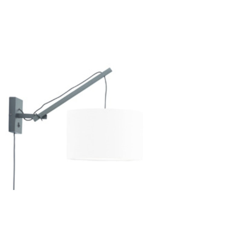 Good&Mojo-collectie Wandlamp Andes zwart/wit S