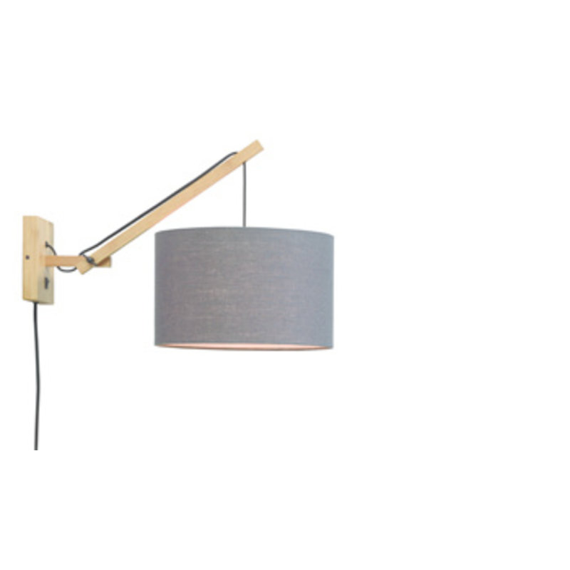 Good&Mojo-collectie Wandlamp Andes naturel/donkergrijs S