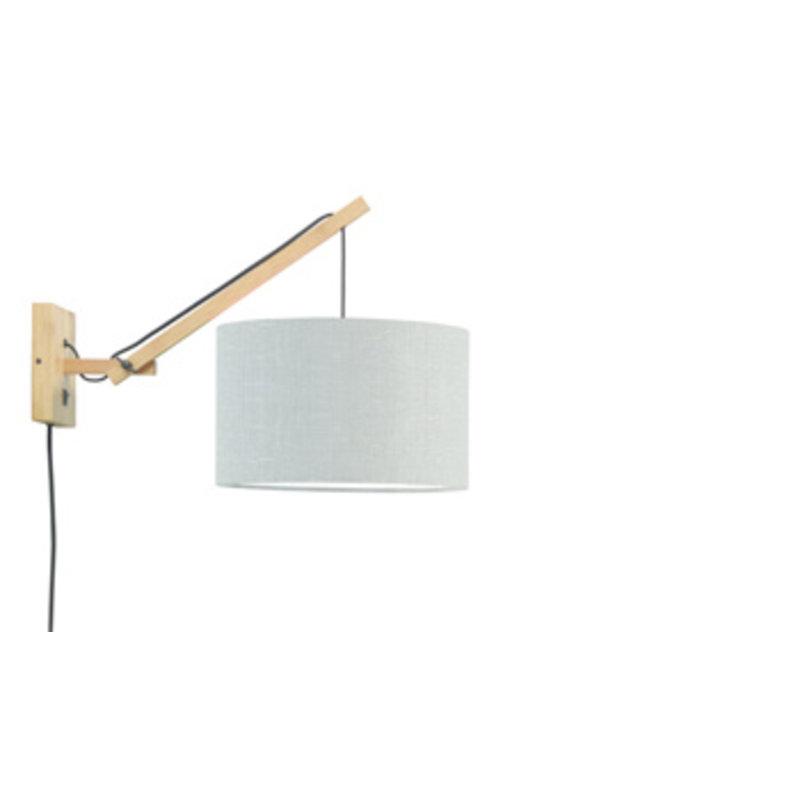 Good&Mojo-collectie Wandlamp Andes naturel/lichtgrijs S