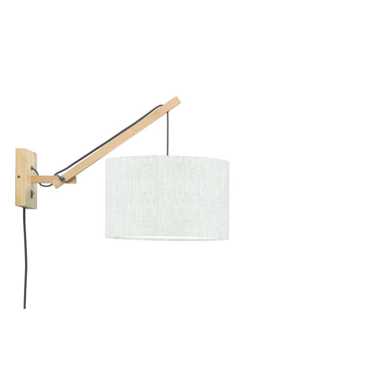 Good&Mojo-collectie Wall lamp Andes nat./shade 3220 ecolin. light, S