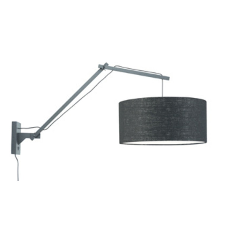 Good&Mojo-collectie Wall lamp Andes bl./shade 4723 ecolin. bl. L